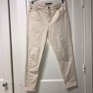 Ralph Lauren Off White Cream Premier Skinny Ankle